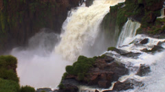 Iguazu Waterfalls in Brazil and Argentina Stock Footage