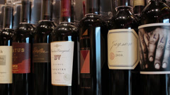 Fine Wines Stock Footage