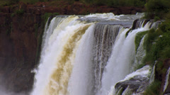 Iguazu Waterfalls in Brazil and Argentina Stock Footage