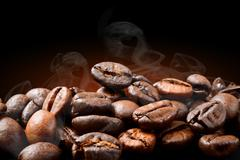 Roasting Coffee - stock photo