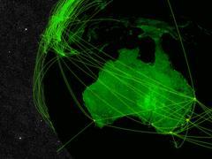 Australia network - stock photo
