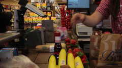 Grocery Store Checkout - stock footage