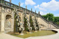 Grand Cascade in the Herrenhausen Gardens, Baroque gardens, esta - stock photo