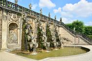 Stock Photo of Grand Cascade in the Herrenhausen Gardens, Baroque gardens, esta
