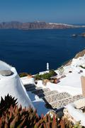Staircase in the Cyclades Stock Photos