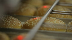 Check bread rolls on quality Stock Footage