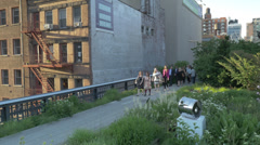 New York City High Line Stock Footage