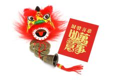 Stock Photo of chineses new year ornaments and red packet