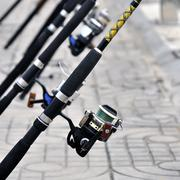 reel for fishing - stock photo