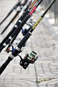 Reel for fishing Stock Photos