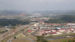 Pan Shot of Panama City Airport to Port Stock Footage