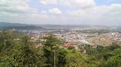 Panorama View of Panama City  Stock Footage