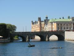 Aquatic view on Stockholm (Sweden) - stock photo