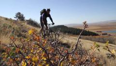 Mountain Biking Singletrack Stock Footage