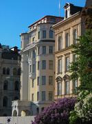 Art deco facades in Stockholm city (Sweden) Stock Photos