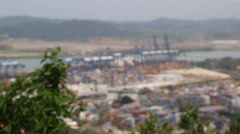 The Port at Panama City, Panama Stock Footage
