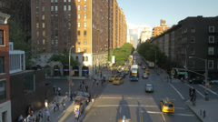 Traffic rush hour in New York City. Stock Footage