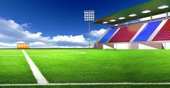 soccer stadium - stock illustration