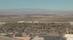 HELICOPTER WIDE VIEW OF ANTELOPE VALLEY Stock Footage