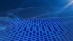 Smooth flowing white particles on blue background Stock Footage