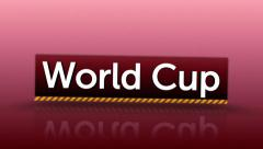 World Cup and Brazil 2014 Text Stock Footage