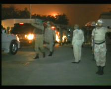 Anti Terrorist Forces storm Karachi Airport after Terror Attack 08 June 2014 - stock footage