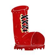 Cartoon old work boot Stock Illustration