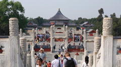 People walking at temple of heaven in beijing china Stock Footage