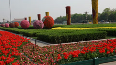 The gardens at tiananmen square beijing china Stock Footage