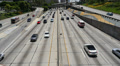 Freeway Traffic 96fps 02 Slow Motion x4 Los Angeles Downtown HD Footage
