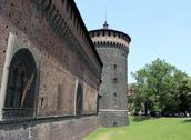 Stock Photo of Sforza Castle, Castello Sforzesco, Milan, Italy
