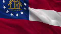 US state flag of Georgia seamless loop Stock Footage