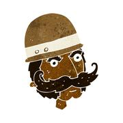 Stock Illustration of cartoon victorian big game hunter