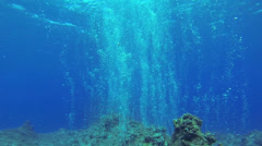 Beautiful Under water Bubbles Stock Footage