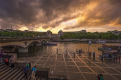 Epic Sunset at Trocadero Stock Photos