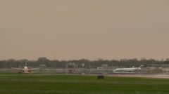 4K -  Jet airplane taking off towards the viewer Stock Footage