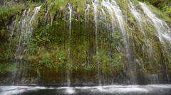 mossbrae falls 2 mount shasta dunsmuir california - stock footage