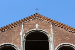 Saint Ambrose Cathedral, Sant'Ambrogio Basilica, Milan, Italy - stock photo