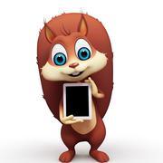 Squirrel with ipad Stock Illustration