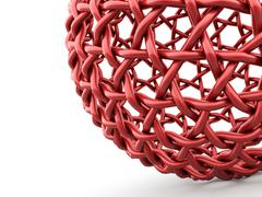 Abstract mesh sphere part rendered Stock Illustration