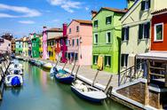 Stock Photo of burano village near venice