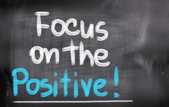 Stock Illustration of focus on the positive concept