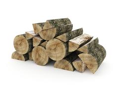 firewood isolated rendered on white background - stock illustration