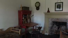 Cove Fort historic study office home room HD 082 Stock Footage
