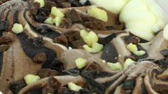 Chocolate Ice Cream Stock Footage