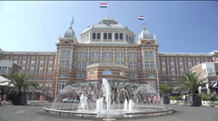 Scheveningen Kurhaus, The Netherlands, Locked Down Shot Stock Footage