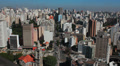 Traffic in the city. Sao Paulo, Brazil. View of the city. HD Footage