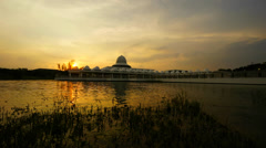 Sunset at Masjid An-Nur Stock Footage