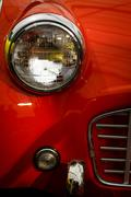 vintage headlight - stock photo