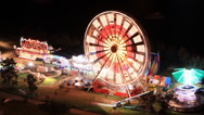 Stock Video Footage of Carnival at night time lapse